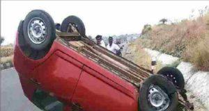sangamner Taluka News Inverted Swift car in single deficit