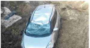 sangamner taluka news car fell into the canal from the bridge