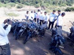 Akole News 12 motorcycles found in well