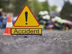 News Two persons were injured in a car collision Sangamner