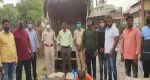 Shrirampur four-wheeler was seen moving suspiciously