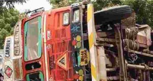 Accident Two killed as diesel tanker overturns