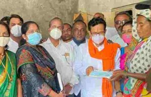 Akole Five lakh assistance to the family of a farm laborer killed in a leopard attack Dhamangaon