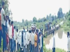 Ahmednagar news body was found in the flowing water