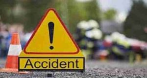 Three vehicles Accident four injured