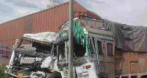 Sangamner Accident truck and container