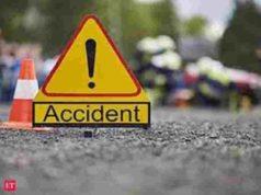 Sangamner Car overturned accident