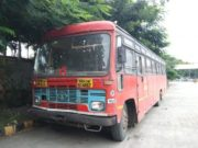 Sangamner News driver committed suicide by hanging himself in the bus