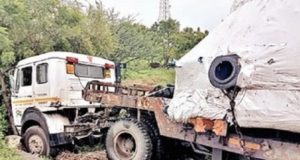 Sangamner Talegaon Accident truck and Container