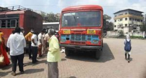 Ahemednagar Breaking Bus accident man killed on spot