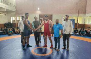 Akash Malave Selection test for Akole taluka Maharashtra Kesari