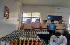 Crime News stock of liquor seized from a house in Akole taluka
